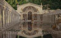 Artificial lake in Hadrian's Villa