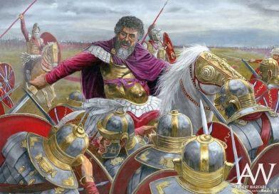 Septimius Severus battles against Clodius Albinus' forces, 197