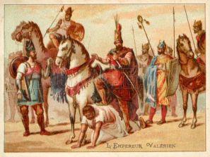 Valerian captured by Sassanid Shah Shapur I, 260