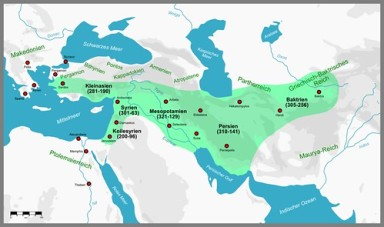 Map of the Seleucid Empire after 323BC