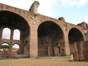 Remains of a basilica at the forum