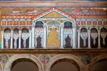 Mosaic depicting the Western Roman Imperial Palace in Ravenna