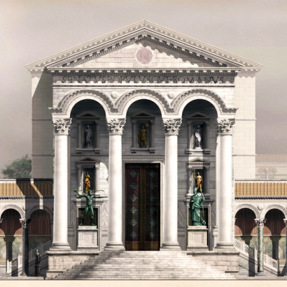 Byzantine Senate Hall, Great Palace, based on Classical Roman architecture