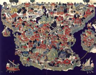 """Constantinople """"New Rome"""", founded by Constantine I the Great"""
