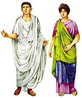 Roman patrician man and woman