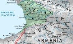 Location of the Byzantine vassal Kingdom of Lazica