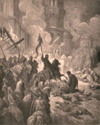 Crusaders sack Constantinople, 1204