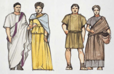 Roman Patricians (left) and Plebs (right)