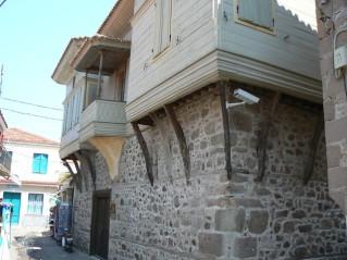 Byzantine house balcony (protruding upper floor)