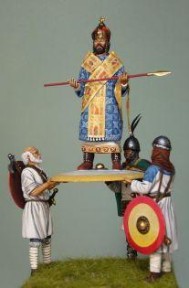 Coronation of a Byzantine emperor over a shield