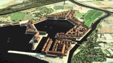 Dual harbor port of Ostia, the port of Rome