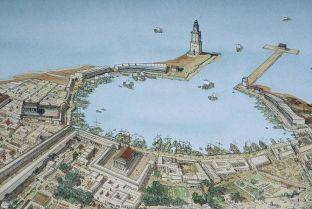 Roman port of Leptis Magna