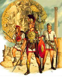 Iberian warriors from Spain