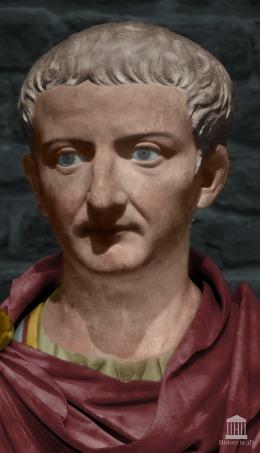 Emperor Tiberius (r. 14-37AD), successor of Augustus