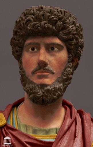 Lucius Verus, co-emperor with Marcus Aurelius (r. 161-169)