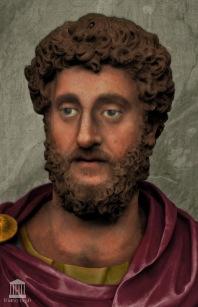 Emperor Commodus (r. 180-192), son of Marcus Aurelius, co-emperor 177-180