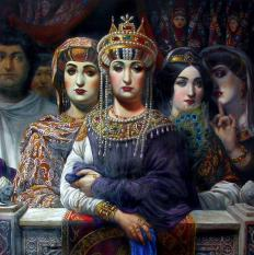 Empress Theodora in the Hippodrome imperial box