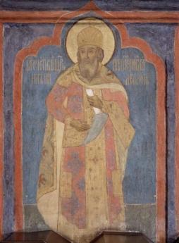 Byzantine style fresco of Emperor Michael VIII Palaiologos in Russia