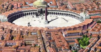 Forum of Constantine with colonnaded surroundings