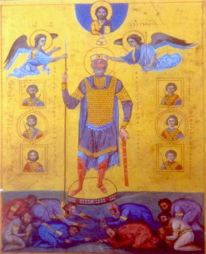 Icon of Byzantine emperor Basil II (r. 976-1025)