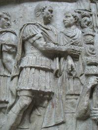 Trajan's sculpture in his column