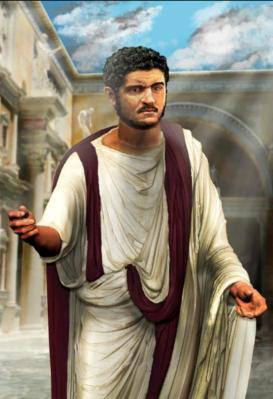 Emperor Caracalla (r. 211-217), son of Septimius Severus