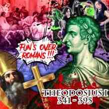 Theodosius I ends the Roman Pagan fun