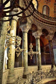Byzantine columns in the Hagia Sophia