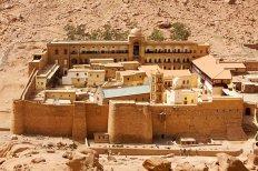 6th century Monastery of St. Catherine, Sinai, Egypt built under Justinian I