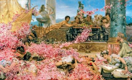 Decadence, sex, and feasting in Elagabalus' reign (218-222), crushing his enemies under flowers