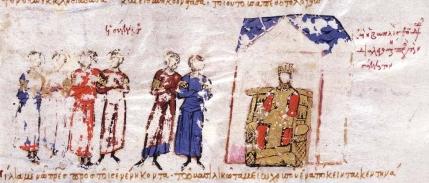 Byzantine Imperial Senate in the Madrid Skylitzes
