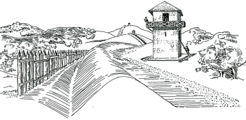 Illustration of the Roman Limes in Germania or Pannonia