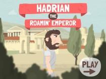 Reference to Hadrian's roaming around the Roman Empire