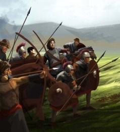 Foederati (Germanic barbarians) in the late Roman army