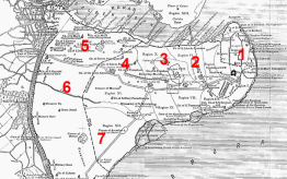 Map of Constantinople's 7 hills