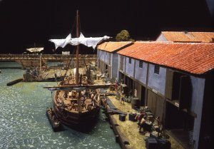 Warehouses in a Roman port