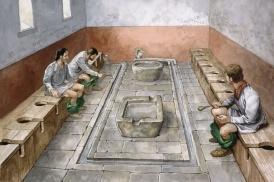 Roman communal toilets