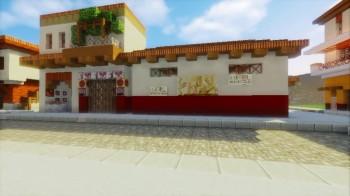 Roman Insula in Minecraft