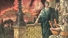Nero with Rome burning, 64AD