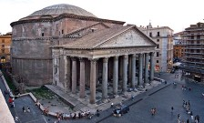 The Pantheon, Rome built by Marcus Agrippa, renovated by Hadrian