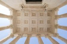 Roman square pattern ceiling
