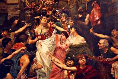 Death of Vitellius, 69AD
