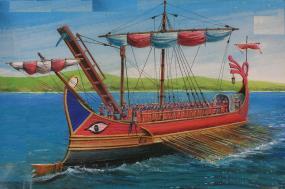 Roman Trireme ship