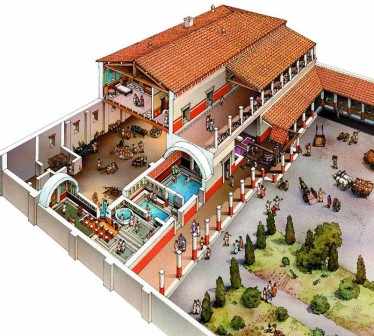 Roman villa in the west