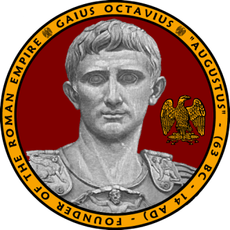 Gaius Octavius Augustus, first emperor of Rome (27BC-14AD)