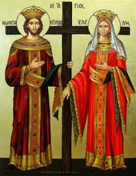 Icon of St. Constantine the Great and his mother St. Helena