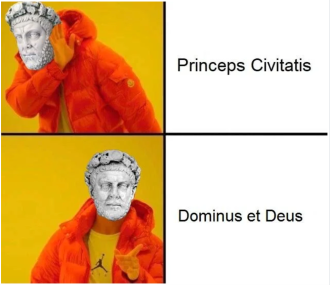 Meme of Diocletian's Dominate System