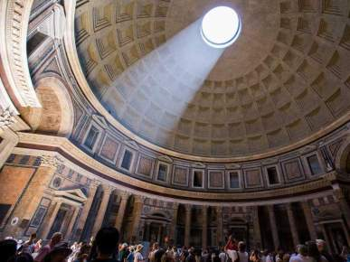 Ceiling of the Pantheon's dome