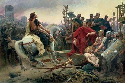 Julius Caesar defeats Gallic leader Vercingetorix and captures Gaul