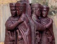 Porphyry sculpture of the 1st 4 Tetrarch emperors- Diocletian, Maximian, Galerius, Constantius I
